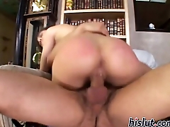 Sasha Grey gets drilled by a stiff rod